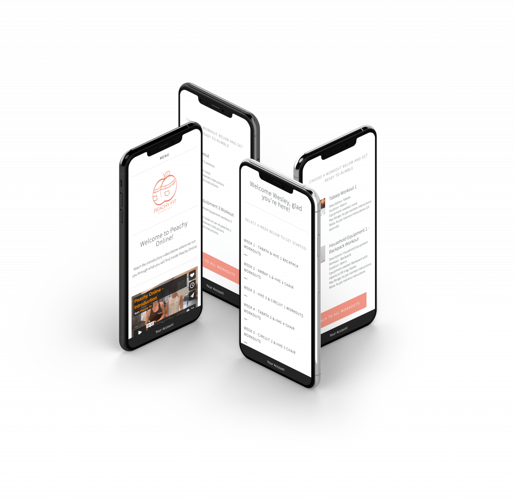 Peachy Fit Fully Responsive Website