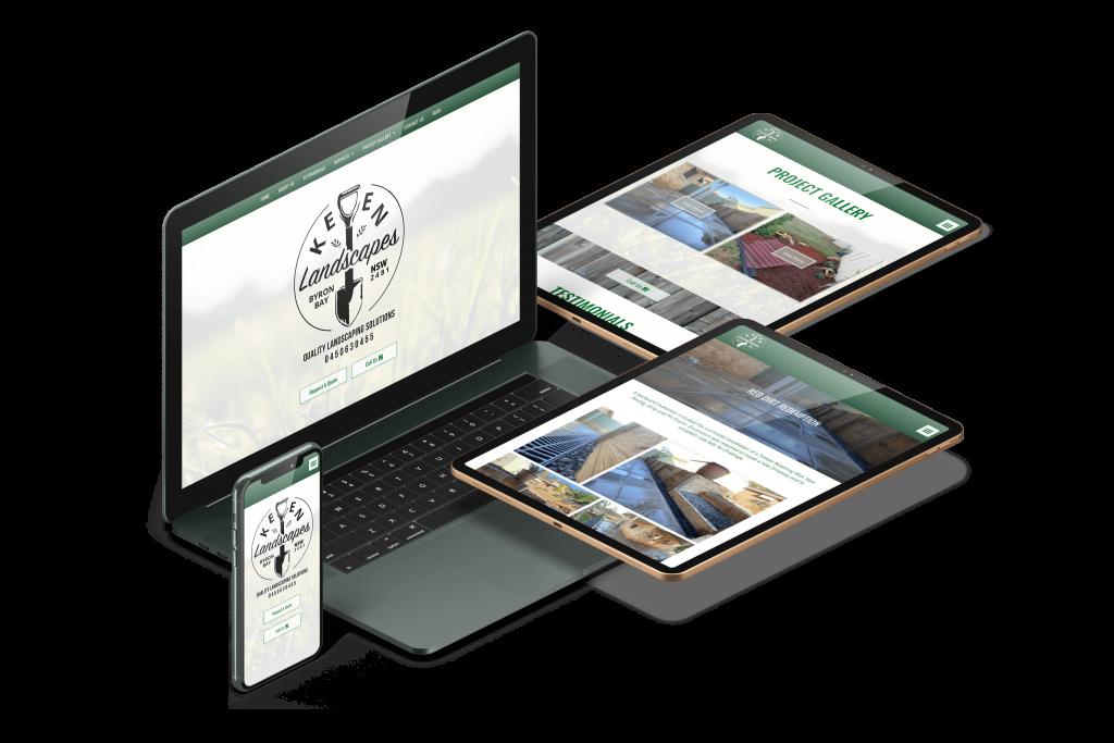 Keen Landscapes Responsive web design