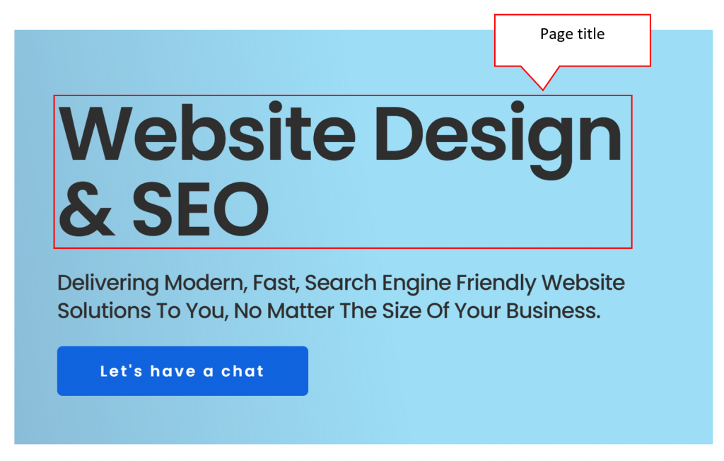 On-Page SEO Page title